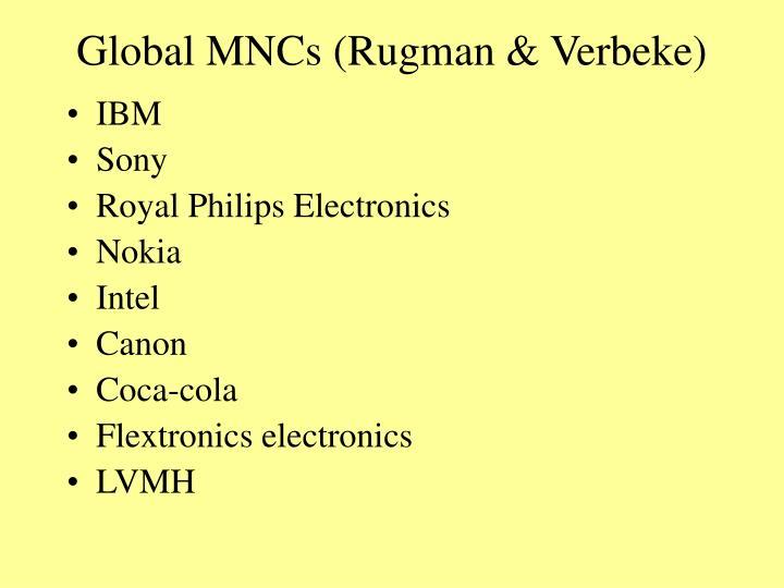 Global MNCs (Rugman & Verbeke)