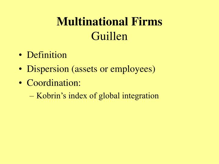 Multinational Firms