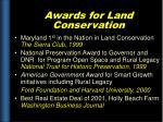 awards for land conservation