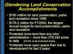 glendening land conservation accomplishments