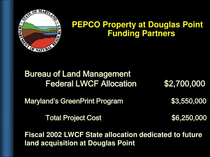 PEPCO Property at Douglas Point Funding Partners