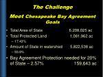 the challenge meet chesapeake bay agreement goals