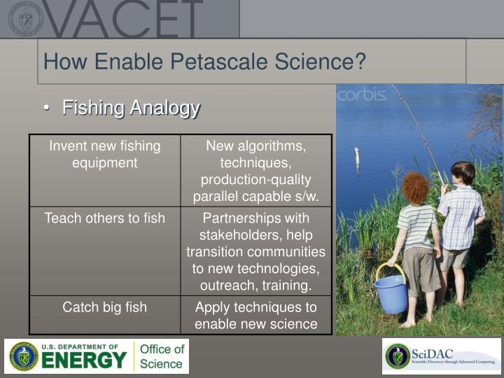 How Enable Petascale Science?