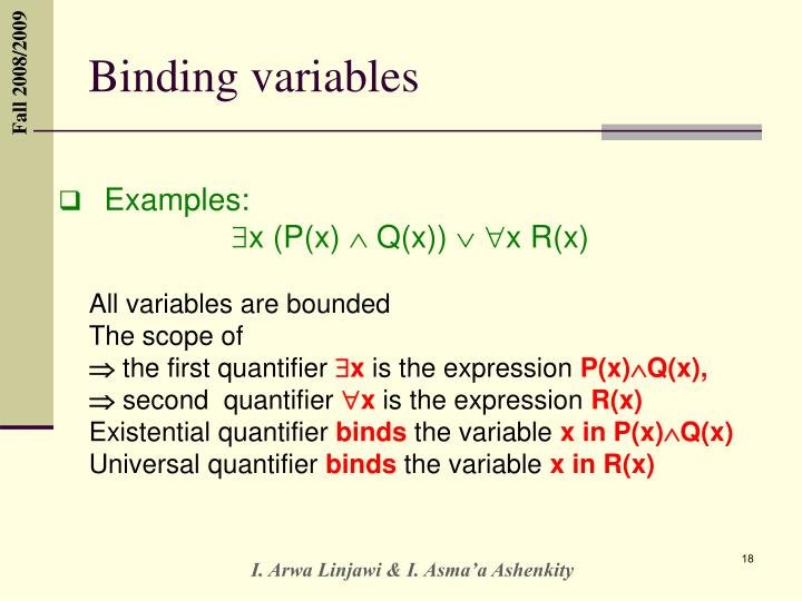 Binding variables