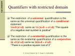 quantifiers with restricted domain