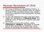 mexican revolution of 1910