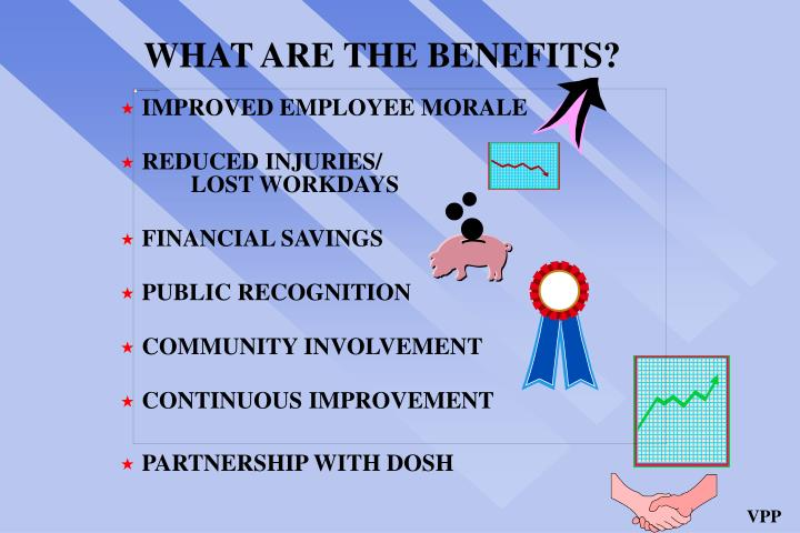 WHAT ARE THE BENEFITS?