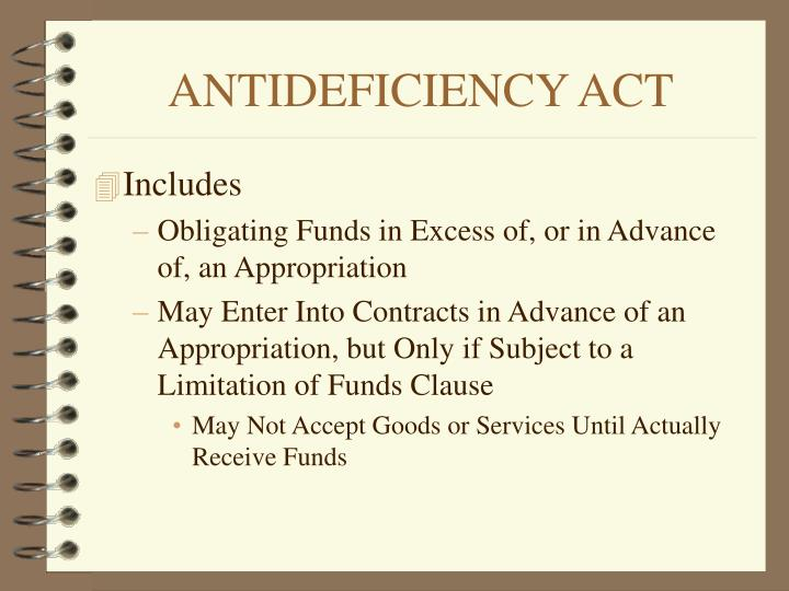 ANTIDEFICIENCY ACT