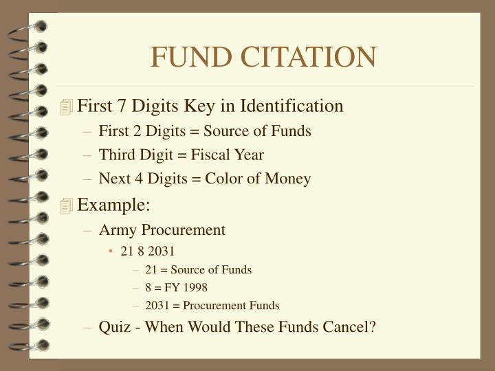 FUND CITATION