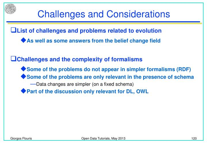 Challenges and Considerations
