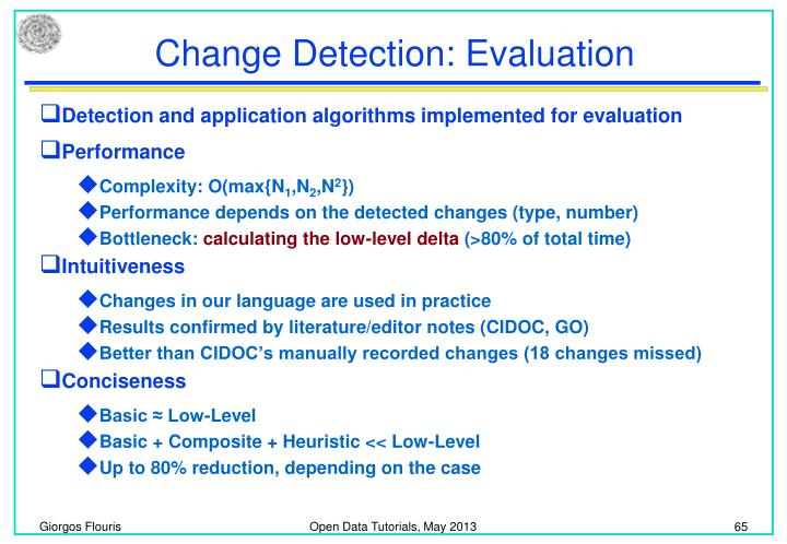 Change Detection: Evaluation