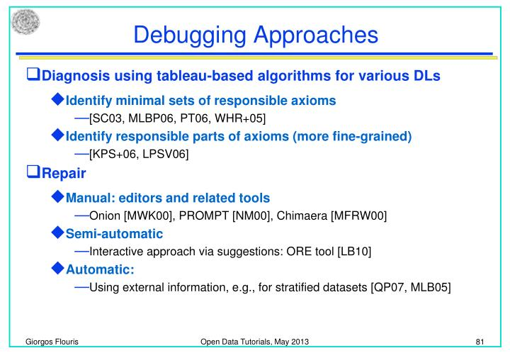 Debugging Approaches