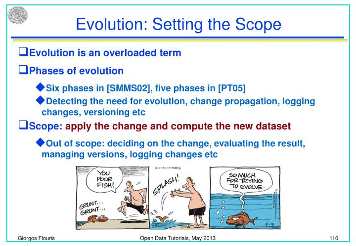 Evolution: Setting the Scope