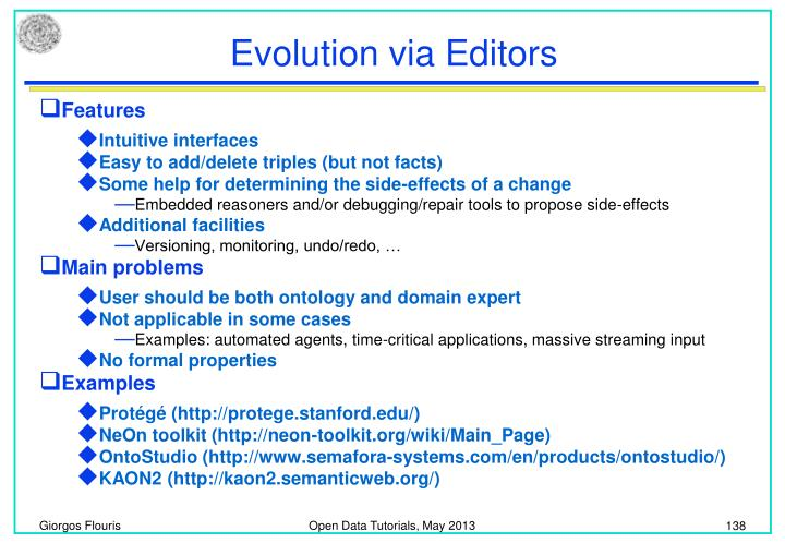 Evolution via Editors