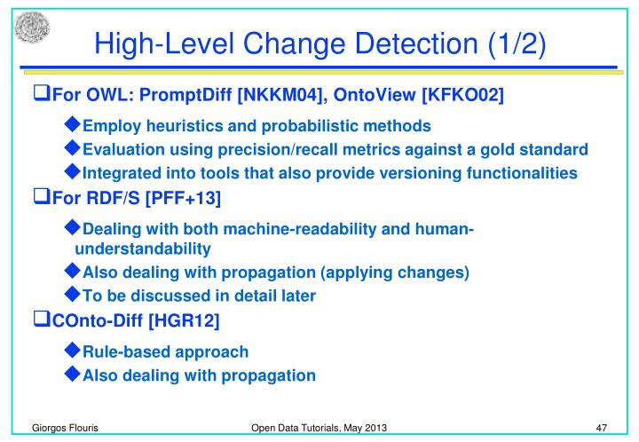 High-Level Change Detection (1/2)