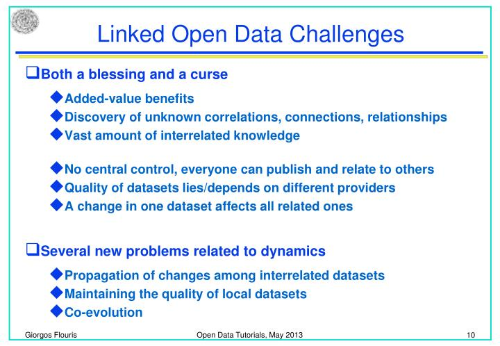Linked Open Data Challenges