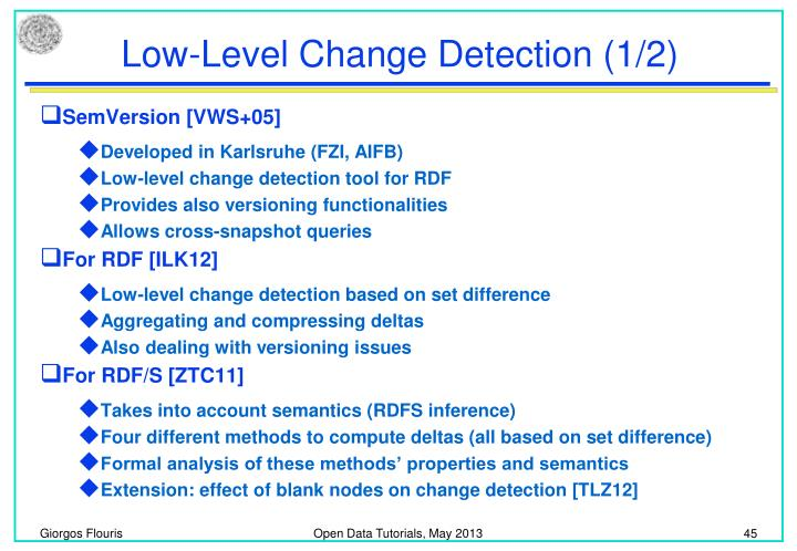 Low-Level Change Detection (1/2)