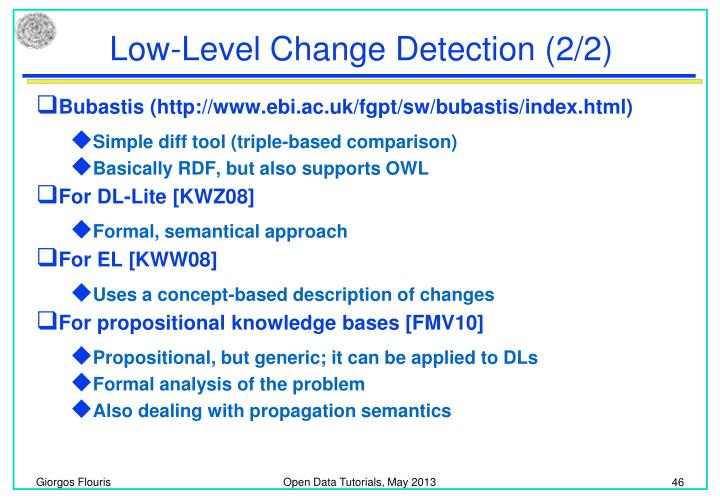 Low-Level Change Detection (2/2)