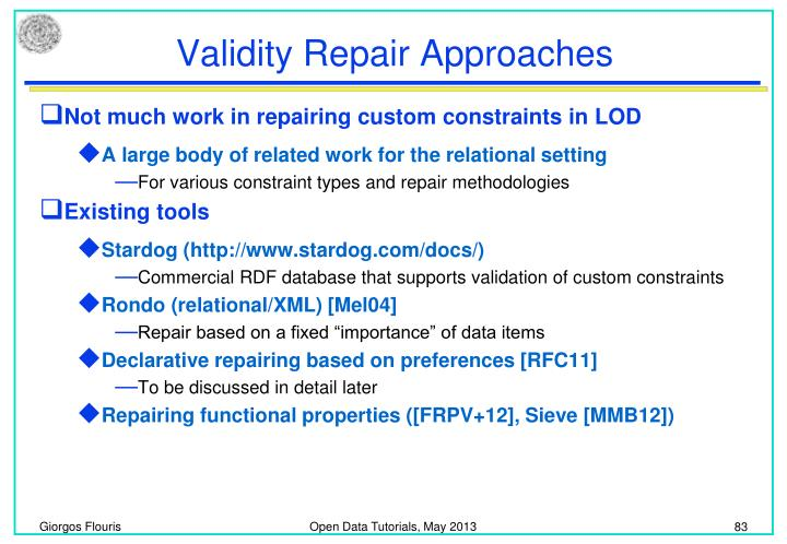 Validity Repair Approaches