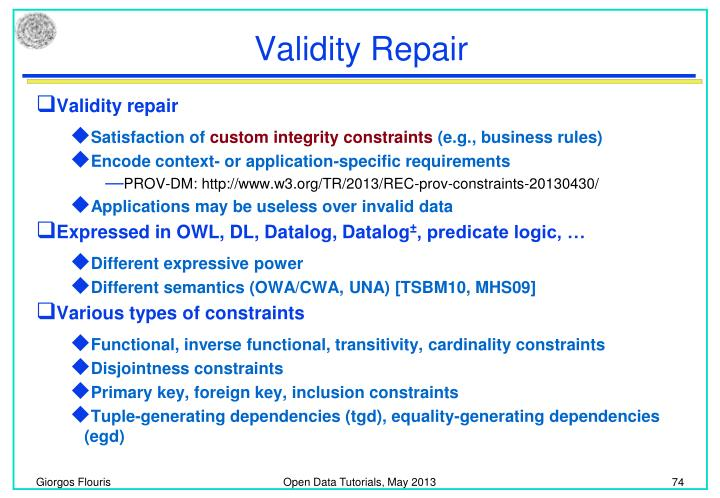 Validity Repair