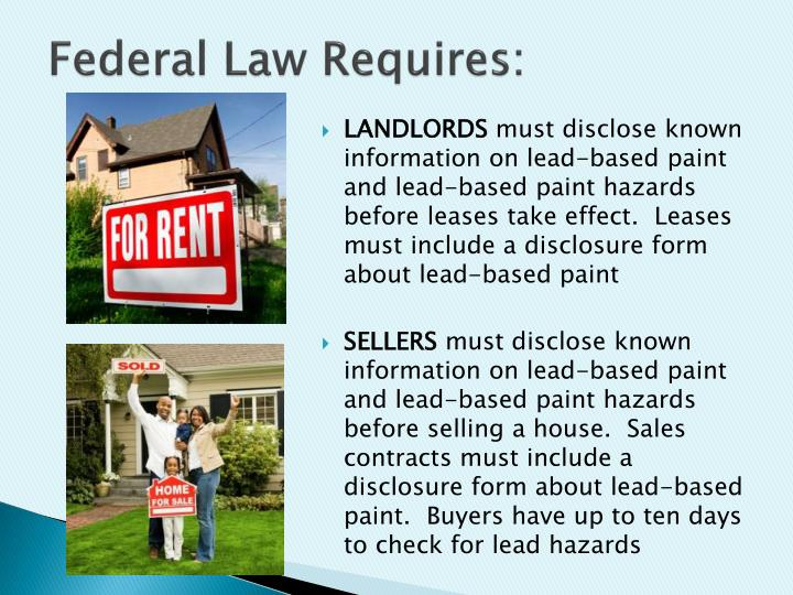 Federal Law Requires: