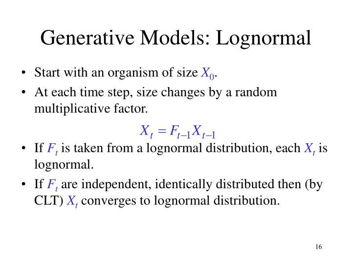 Generative Models: Lognormal