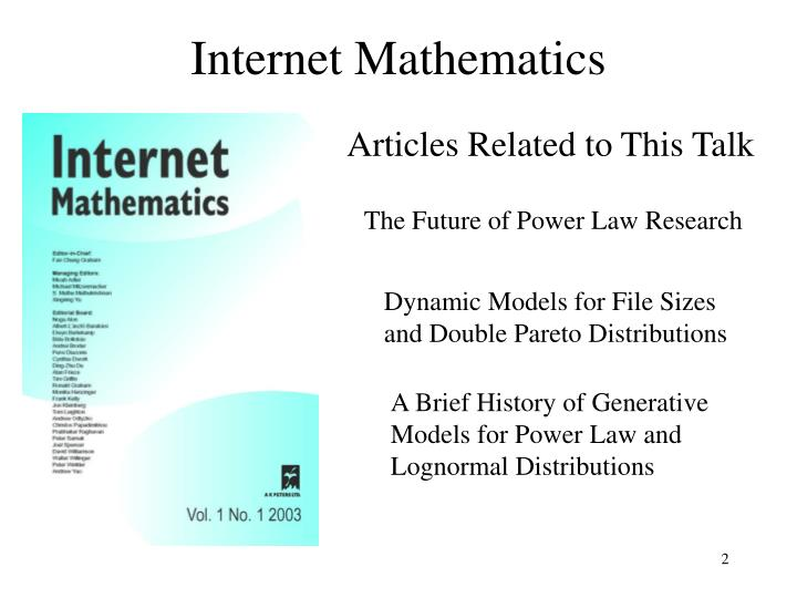 Internet Mathematics