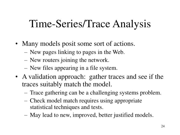 Time-Series/Trace Analysis