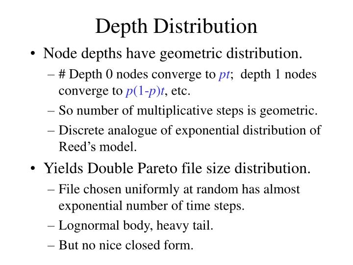 Depth Distribution