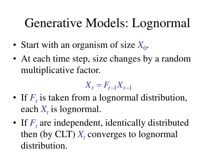 Generative Models: Lognormal