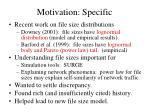 motivation specific