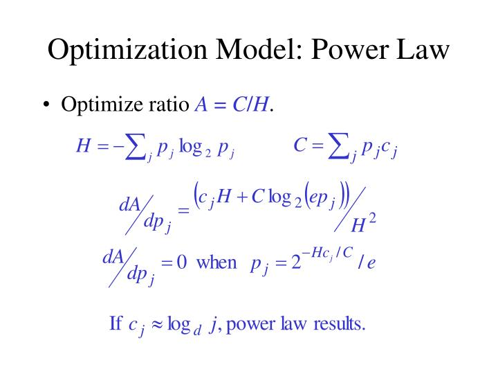 Optimization Model: Power Law