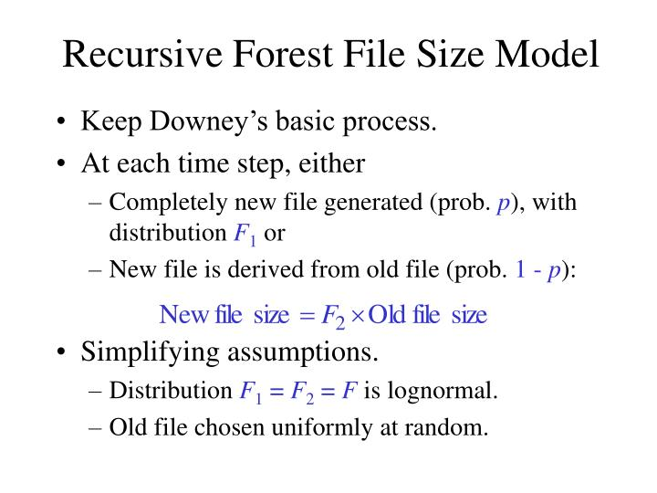 Recursive Forest File Size Model