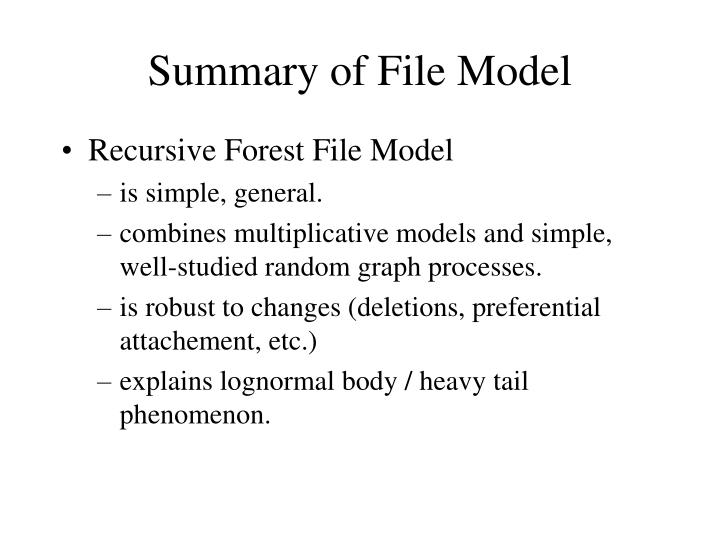 Summary of File Model