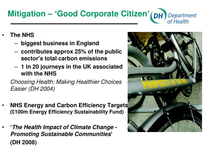 Mitigation – 'Good Corporate Citizen'