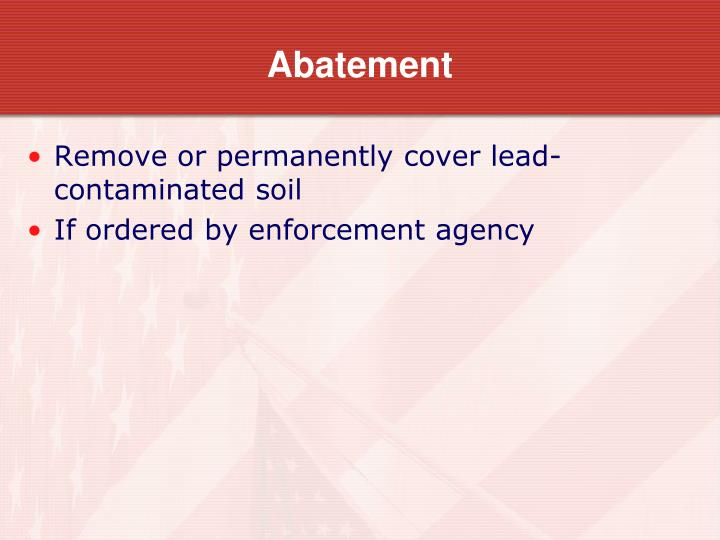 Abatement