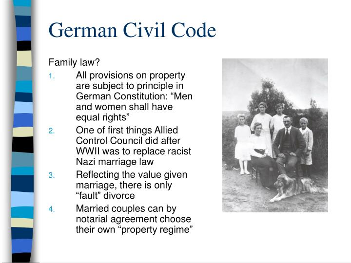 Family law?