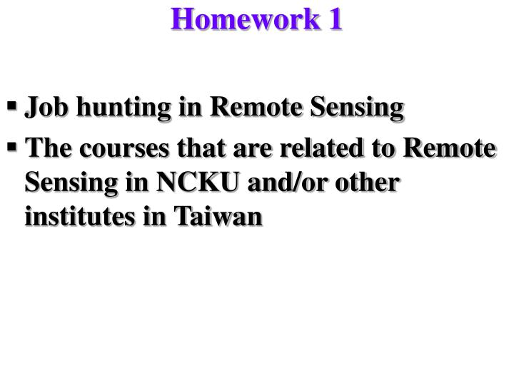 Homework 1