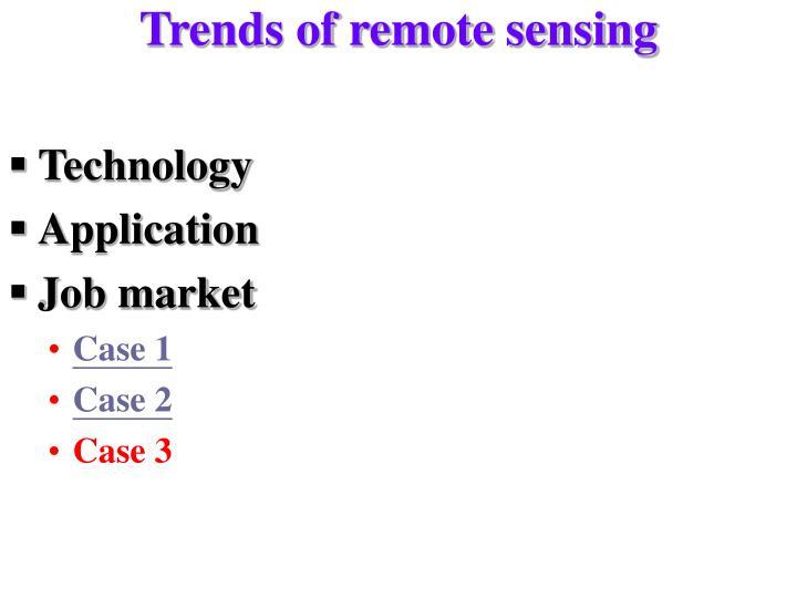 Trends of remote sensing
