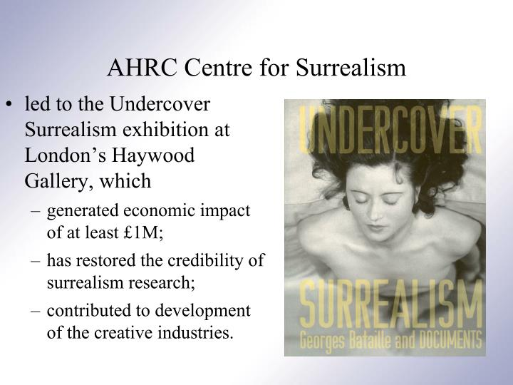 led to the Undercover Surrealism exhibition at London's Haywood Gallery, which