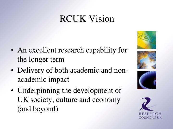 RCUK Vision