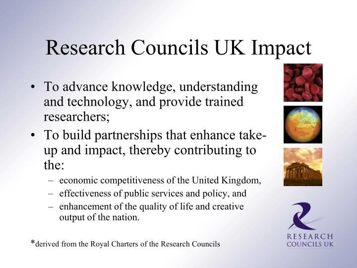 Research Councils UK Impact