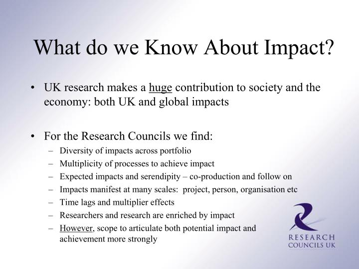 What do we Know About Impact?