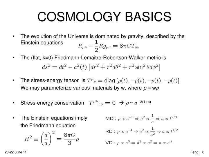 COSMOLOGY BASICS