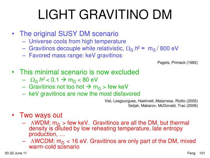 The original SUSY DM scenario