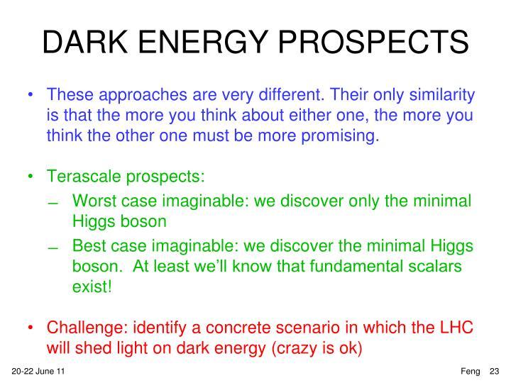 DARK ENERGY PROSPECTS