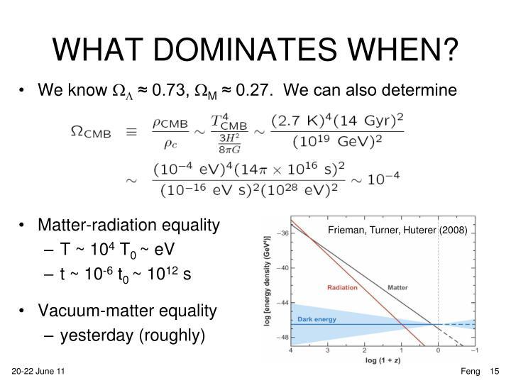 WHAT DOMINATES WHEN?