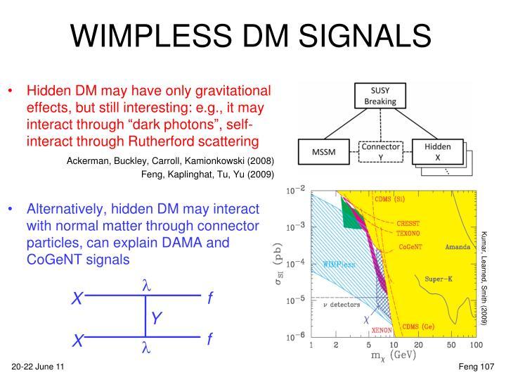 WIMPLESS DM SIGNALS