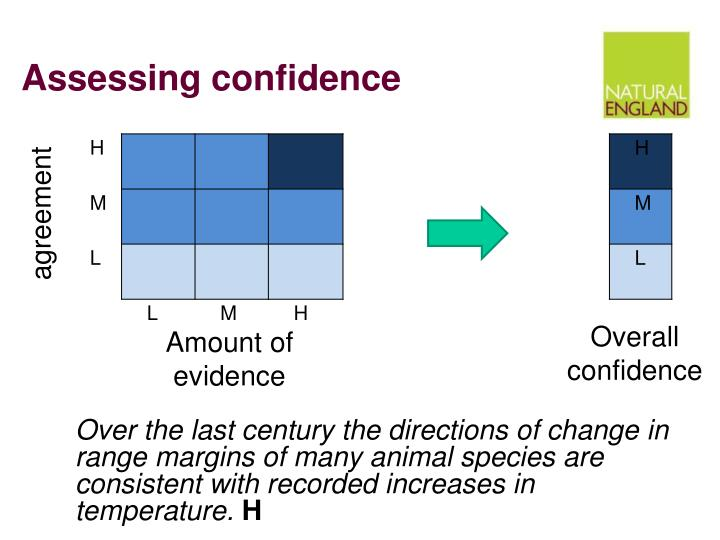 Assessing confidence