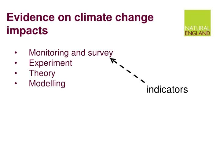 Evidence on climate change impacts
